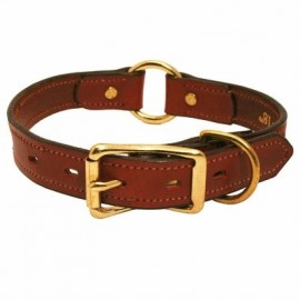 "Leather Wide Hunt Classic Collar by Mendota (14""-24"" Sizes)"