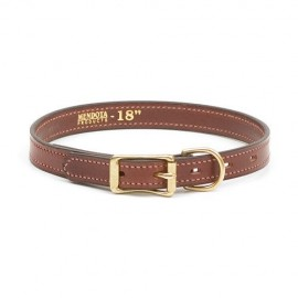 "Chestnut Leather 1""Inch Wide Collar by Mendota, Product 13214"