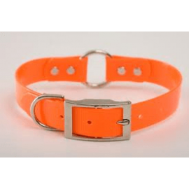 "1"" Wide Safety Hunting Dog Collar by Mendota (18-24 Inches) - Orange, Product 64116"