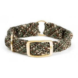 "Braided Center Ring Dog Collar, Sizes 18""-24"" in Camo by Mendota"